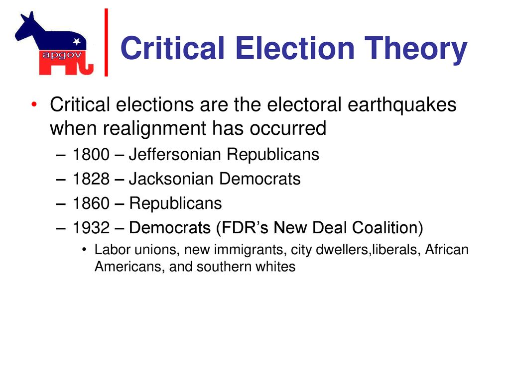 theory of critical elections