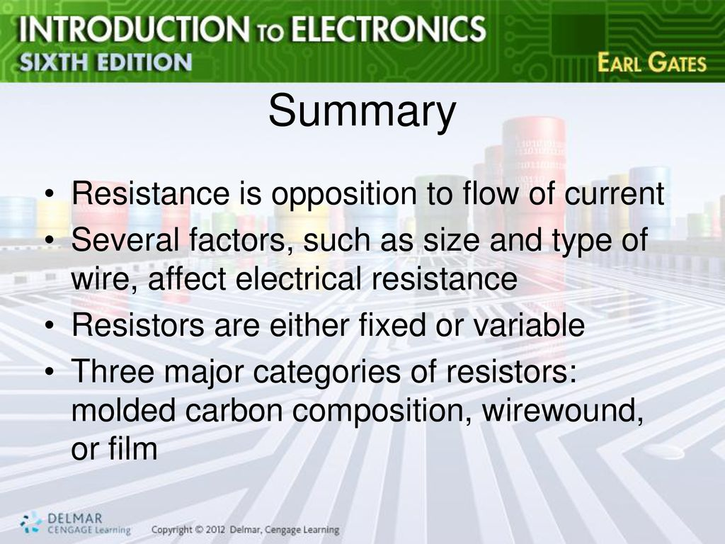 Chapter 4 Resistance Ppt Download Electrical And Resistors Summary Is Opposition To Flow Of Current