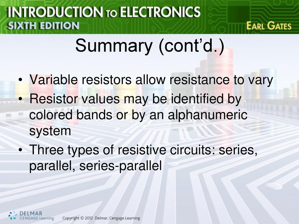 Chapter 4 Resistance Ppt Download Variable Resistor Circuit Resistors Allow To Vary
