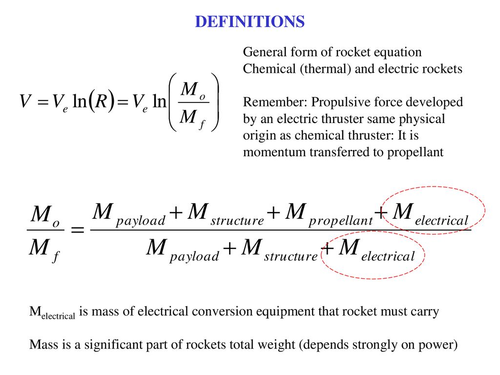 Electric Propulsion Overview Ppt Download