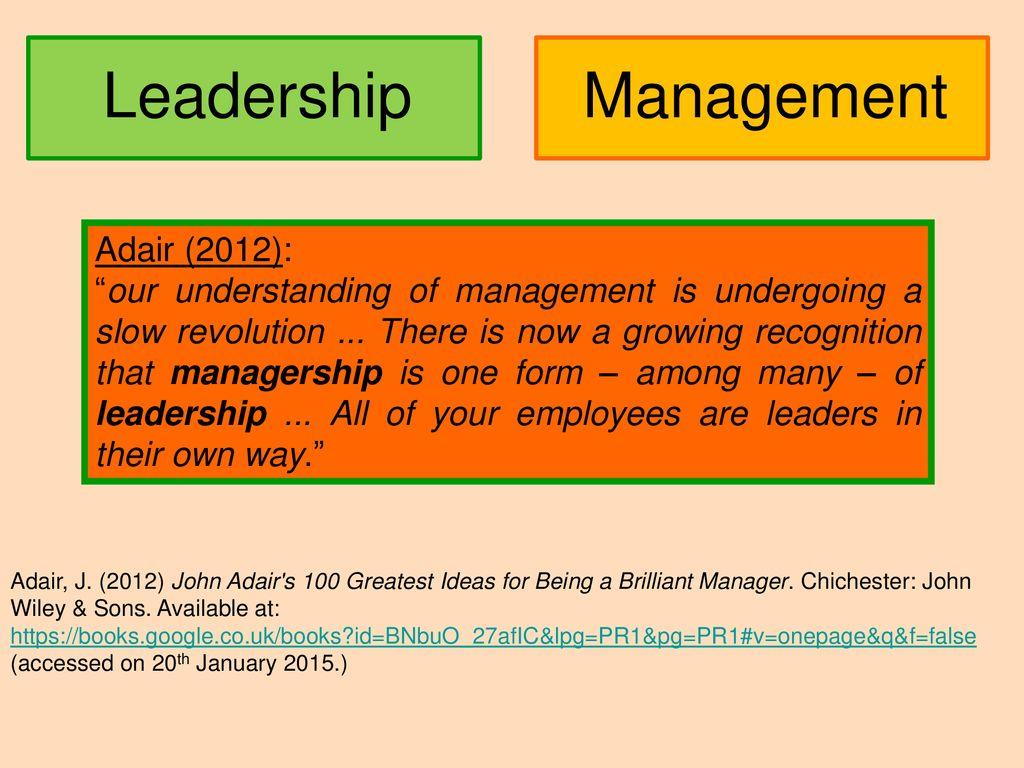 john adair s 100 greatest ideas for being a brilliant manager adair john