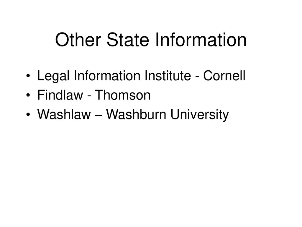 State Research On The Internet Sharon Bradley Reference Faculty Second Circuit Washlaw Web 67 Other Information