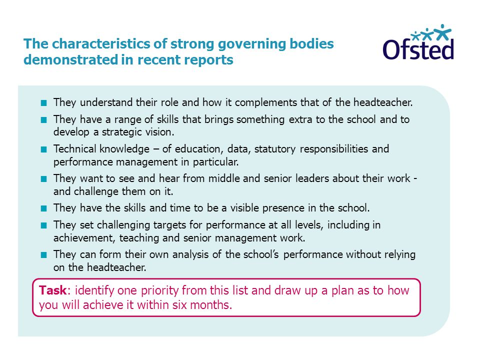 The characteristics of strong governing bodies demonstrated in recent reports