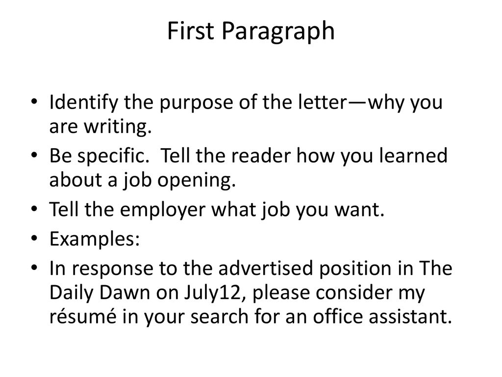 Job Application Writing Ppt Download