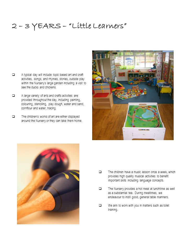 2 – 3 YEARS – Little Learners