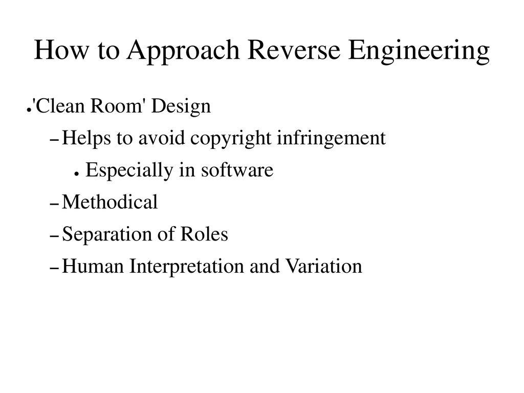 Reverse Engineering Slide Deck Ppt Download