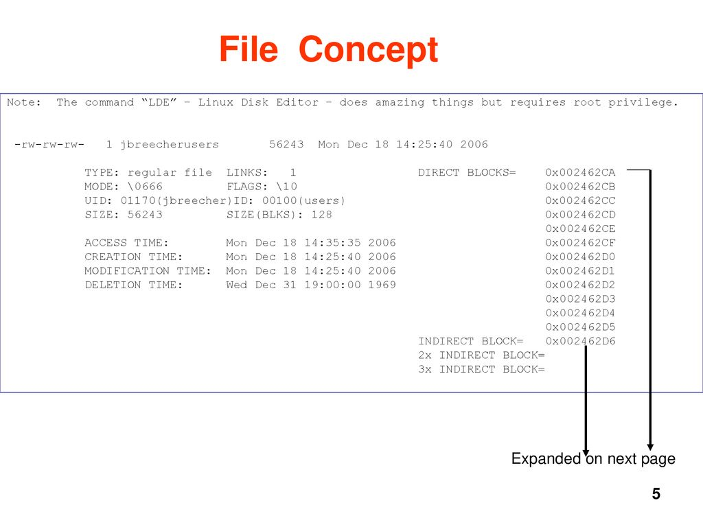 The UNIX File System Jerry Breecher Contains sections on: - ppt download