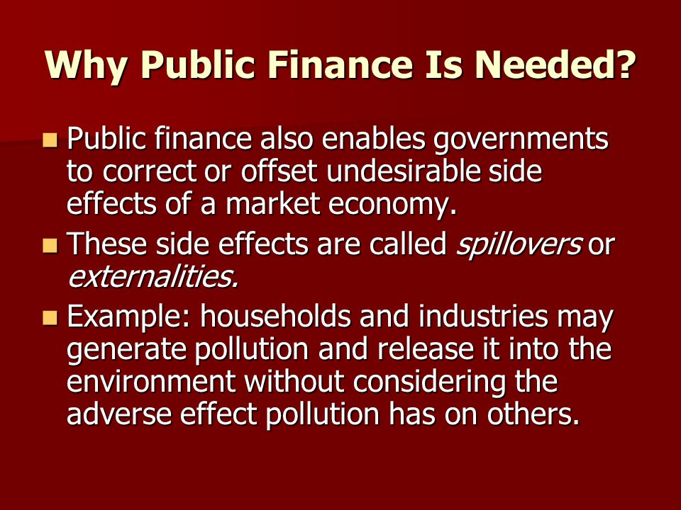 example of public finance