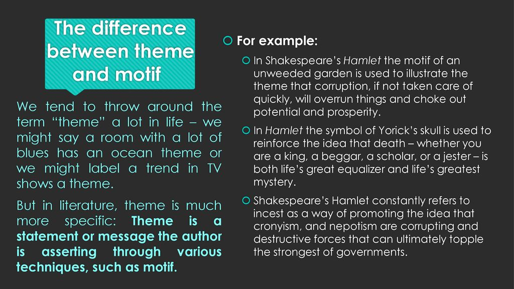 Themes Motifs And Symbols Ppt Download