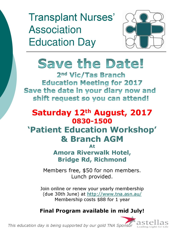 Transplant Nurses' Association Education Day - ppt download