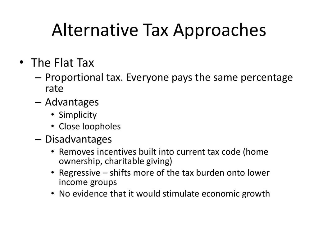 disadvantages of proportional tax