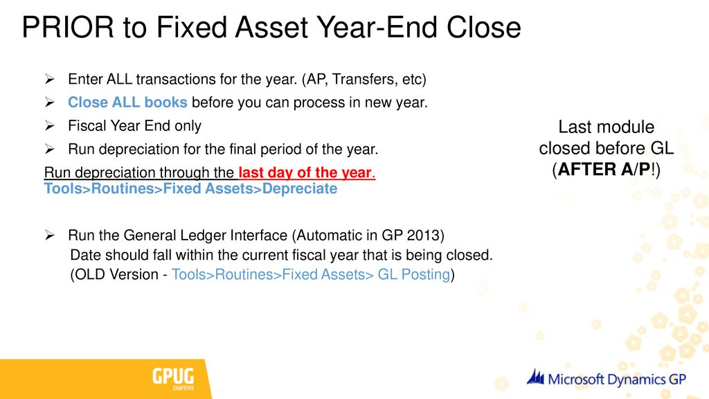 Microsoft Dynamics GP 2017 Year-End Closing - ppt download