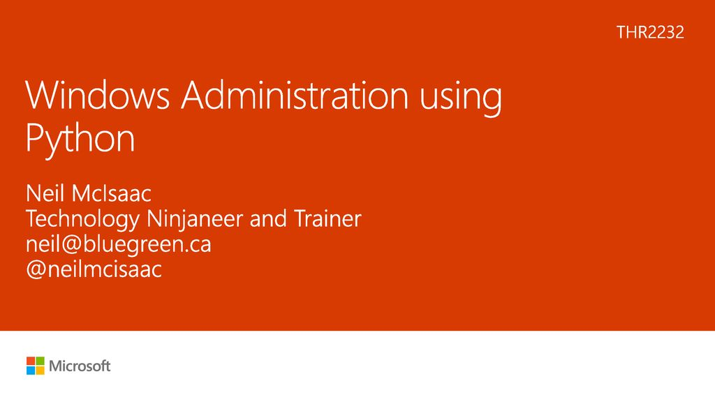 Windows Administration using Python - ppt download
