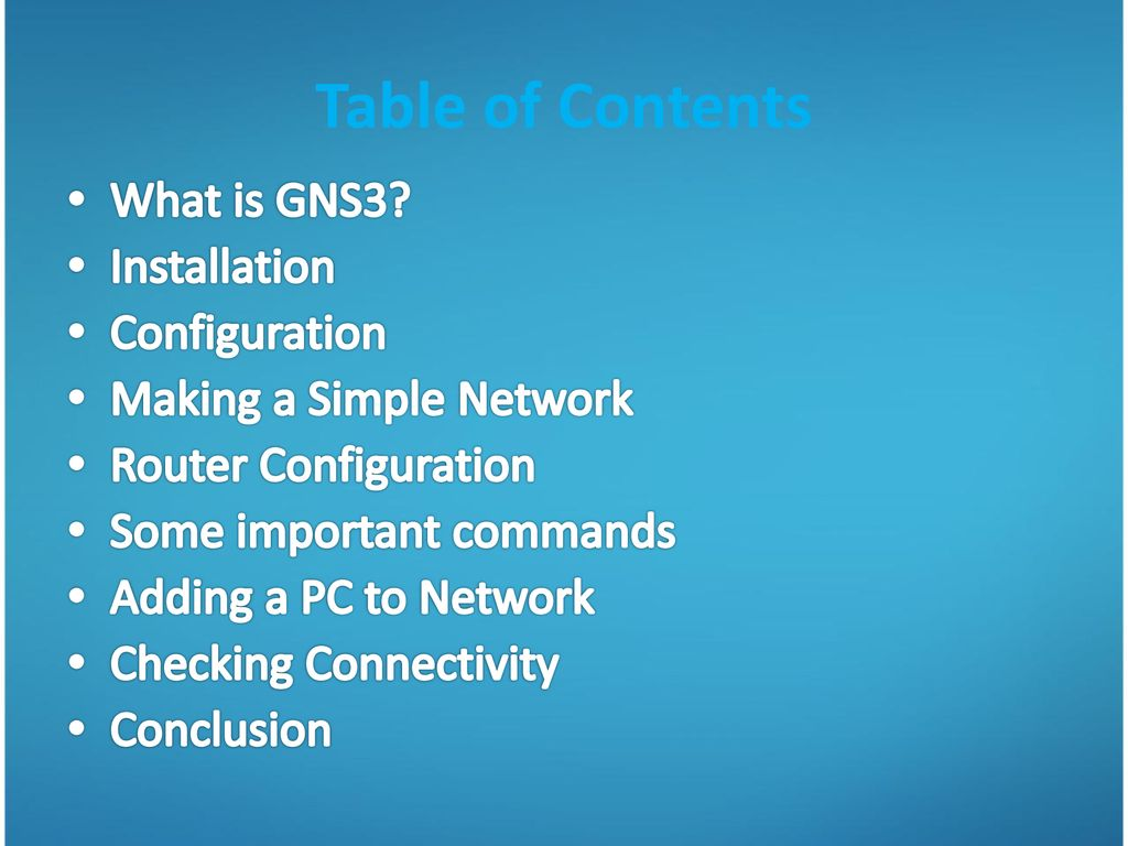 Configuration of Cisco Routers in GNS3 - ppt download