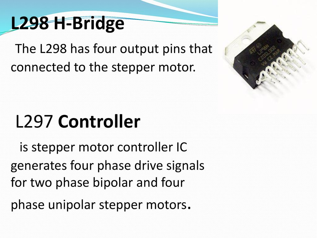 Outlines Introduction Construction Control Ppt Download Photos Of H Bridge Stepper Motor Circuit L298 The Has Four Output Pins That Connected To
