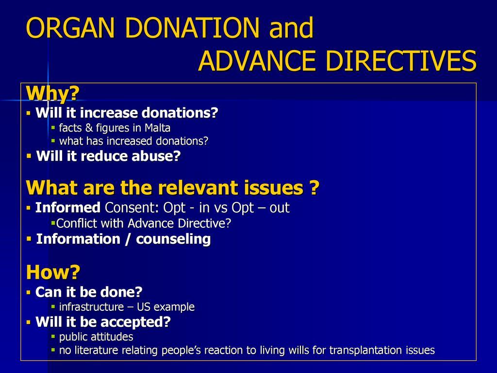 Organ Donation And Advance Directives