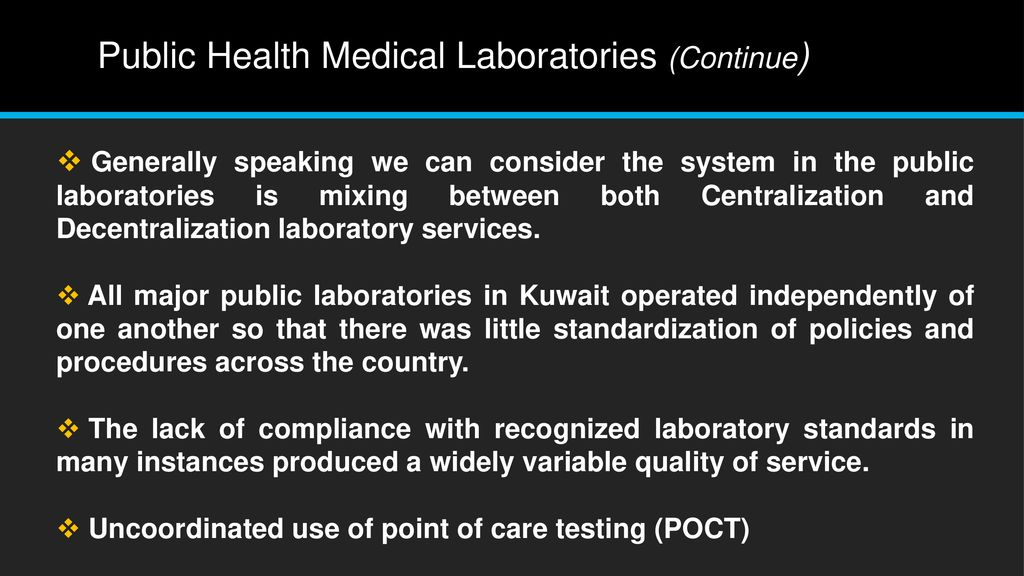 Clinical Laboratory Services Centralization: Pros and Cons