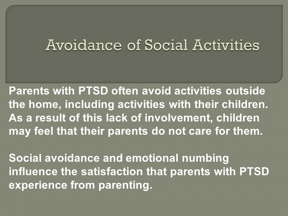 Avoidance of Social Activities