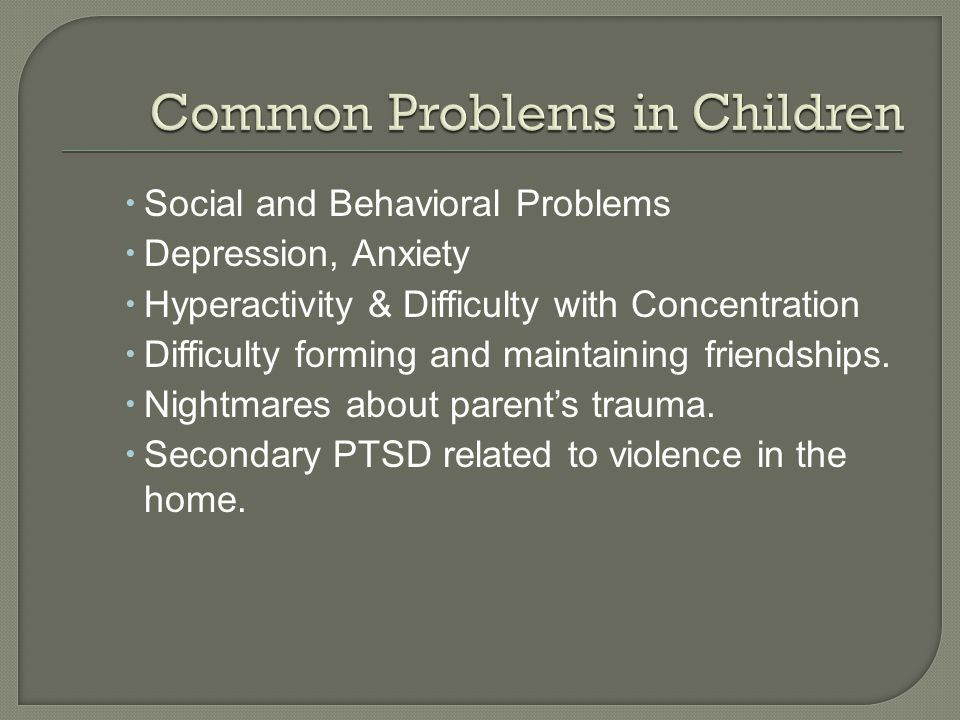 Common Problems in Children