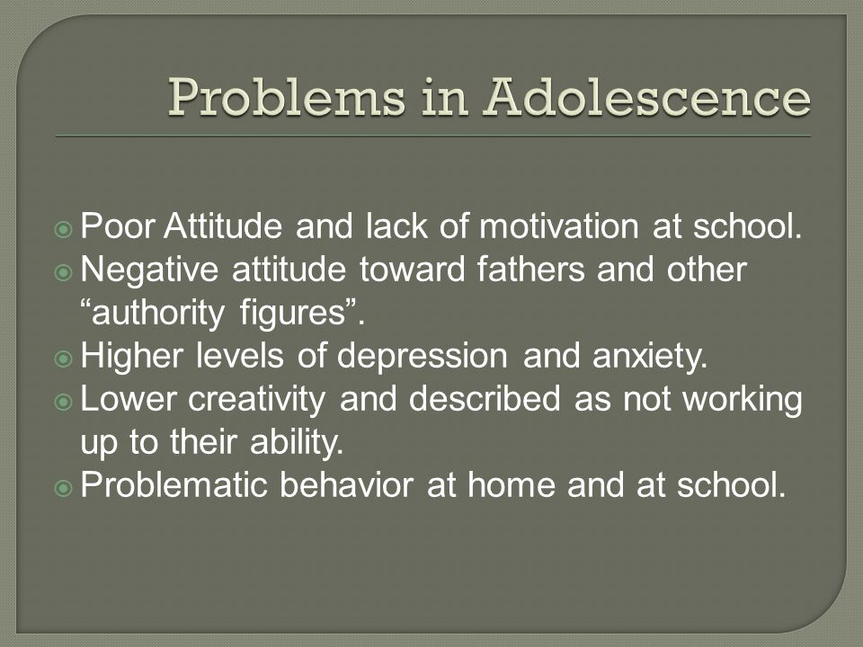 Problems in Adolescence