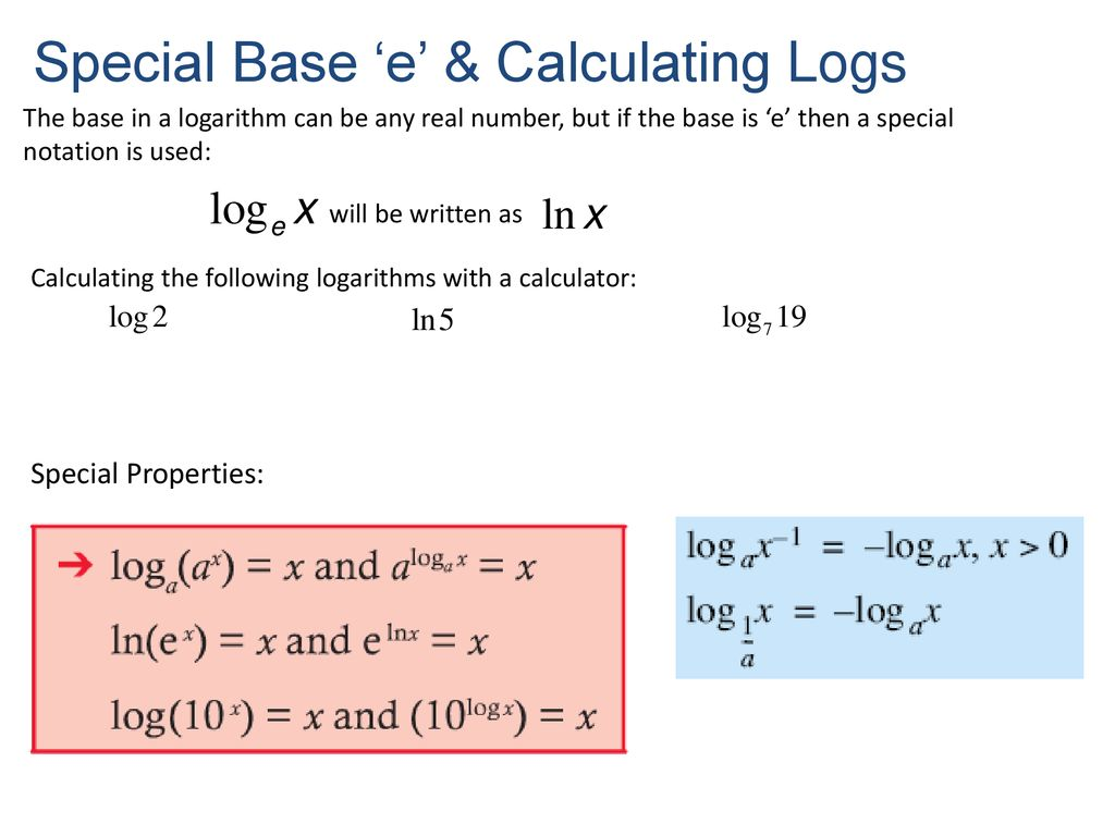 Suggested Practice On Moodle Worksheet Logarithms Problems Ppt