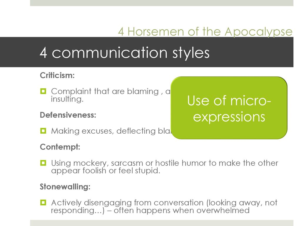 Style of communication that involves criticizing and blaming