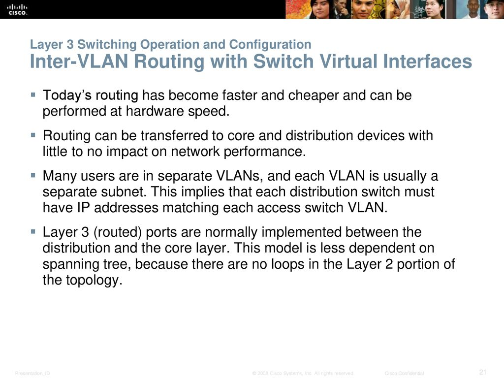 Chapter 5 Inter Vlan Routing Ppt Download How To Configure Intervlan On Layer 3 Switches Cisco 21 Switching Operation And Configuration