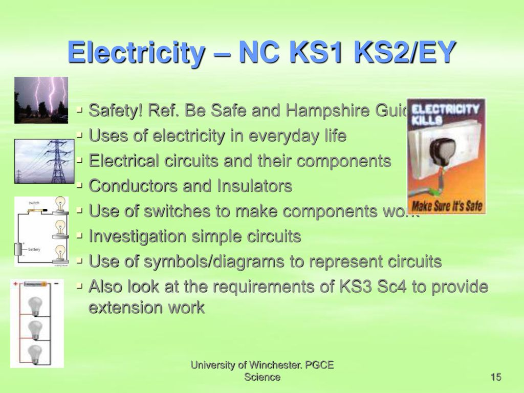 Pgce Science Types Of Enquiry Ppt Download Circuit Diagram Ks1 Electricity Nc Ks2 Ey