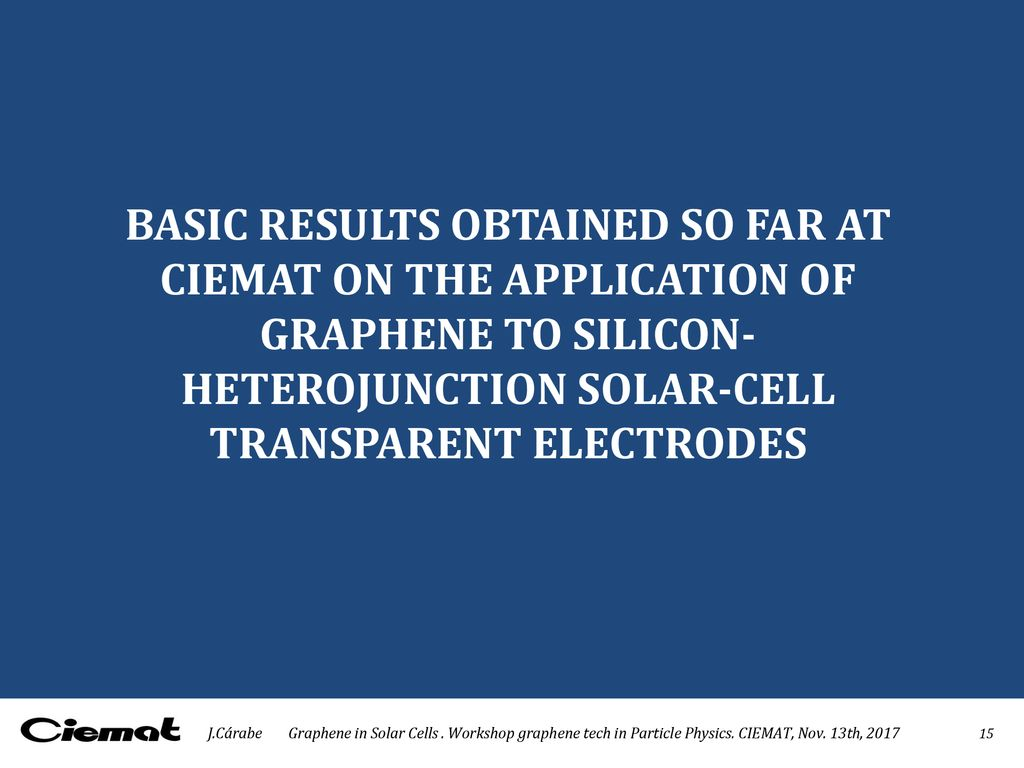 GRAPHENE IN SOLAR CELLS - ppt download