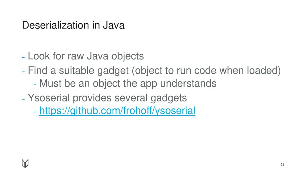 Deserialization in Java