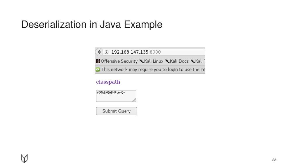 Deserialization in Java Example