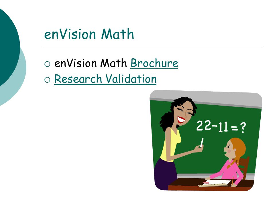 enVision Math enVision Math Brochure Research Validation