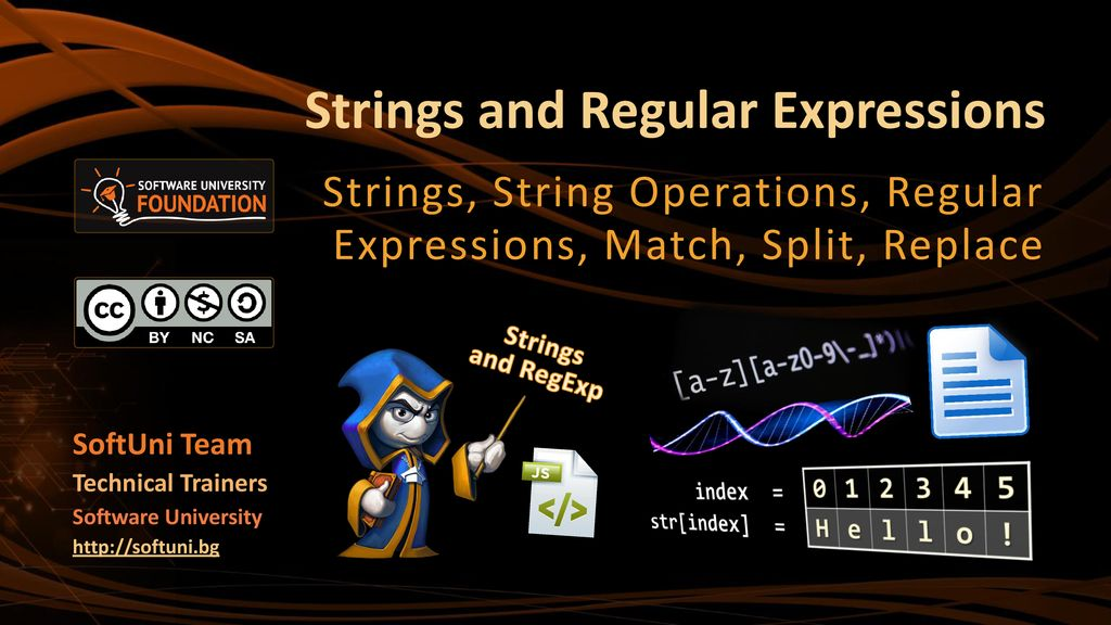 Strings and Regular Expressions - ppt download
