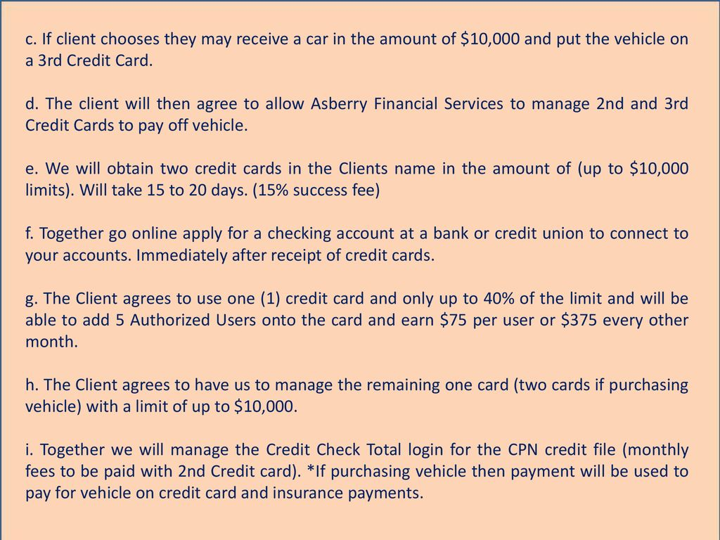 3 Phase CPN Credit Repair and Funding Program - ppt download