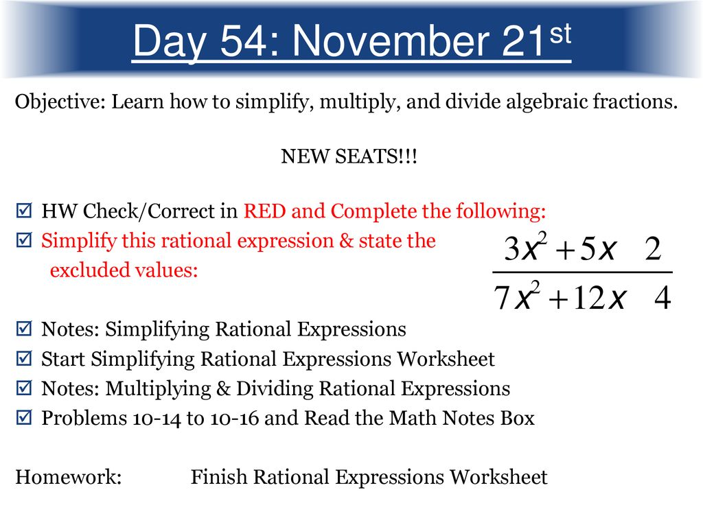 Day 42 November 2nd Objective Learn How To Solve Linear