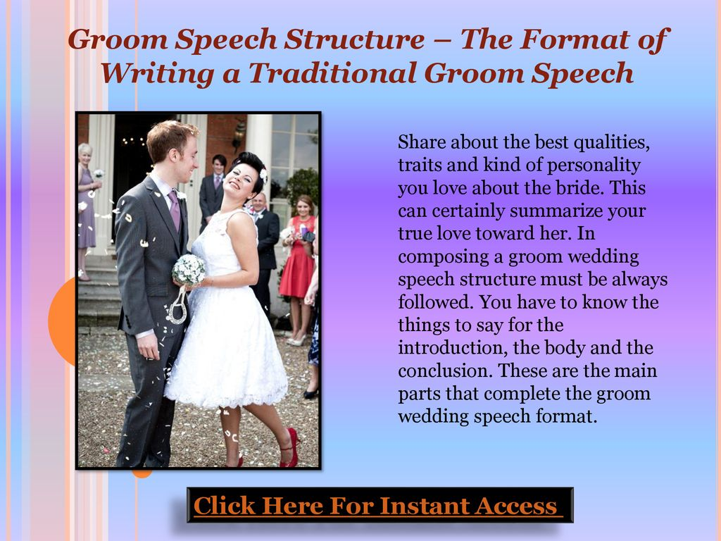 Groom Speech Structure – The Format of Writing a Traditional