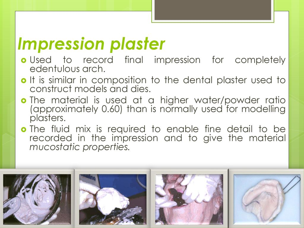 Final impression objectives and materials - ppt download