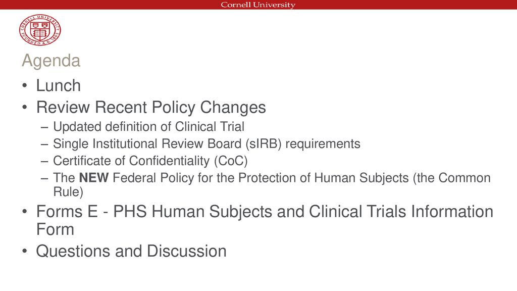 New Nih Human Subjects Requirements Ppt Download