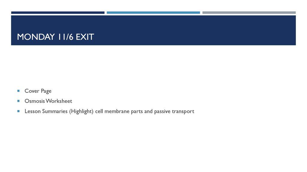 Cell Membrane Transport - ppt download