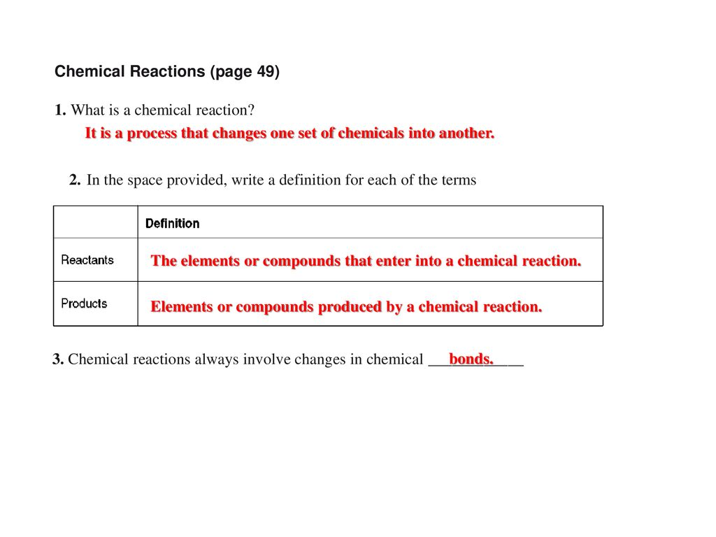 Section 2 4 Chemical Reactions And Enzymes Pages 49 53 Ppt Download