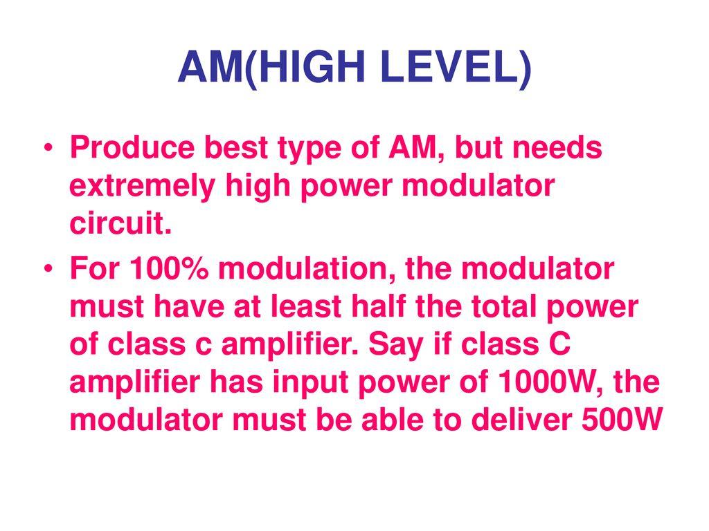 Amplitude Modulation Circuits Ppt Download Am Modulator Circuit 11 Amhigh