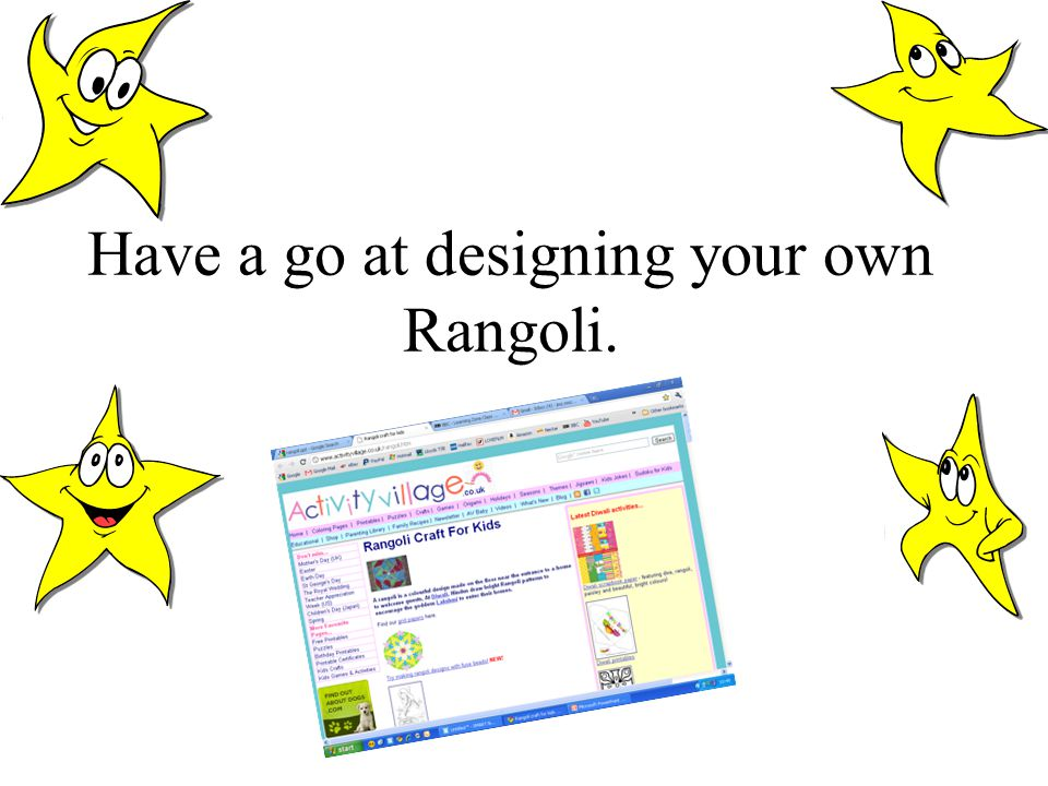 Have a go at designing your own Rangoli.