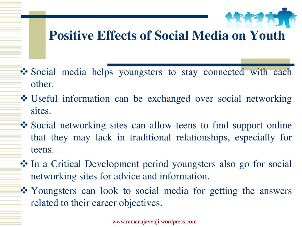 positive effects of social media on youth
