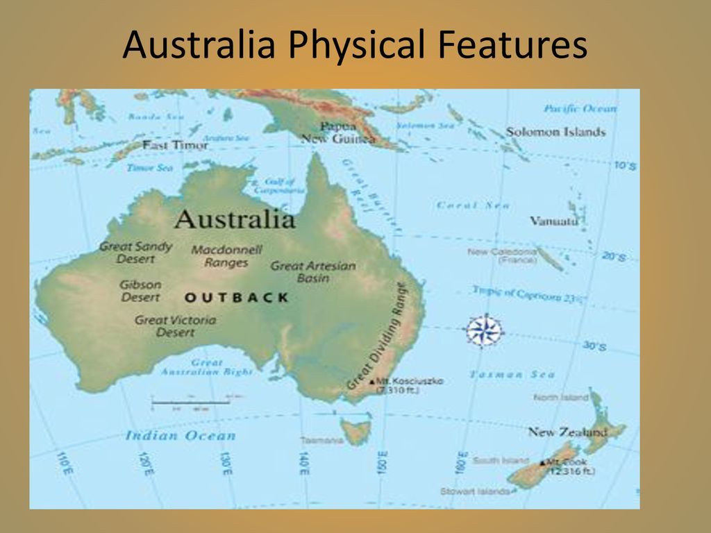Map Of Australia Physical Features.Australia Geography Ppt Download