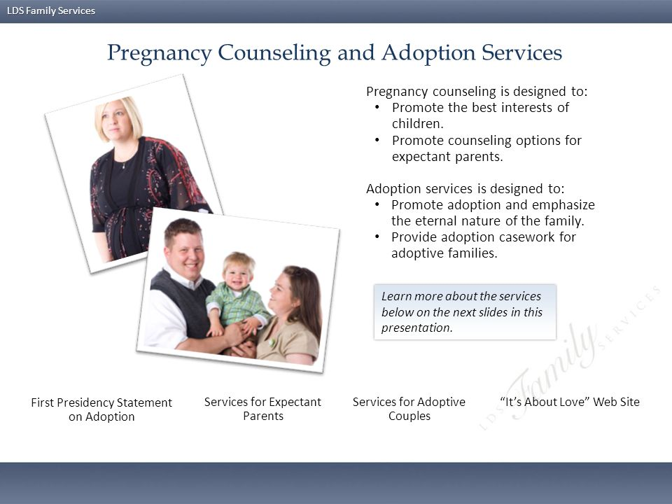 Pregnancy Counseling and Adoption Services