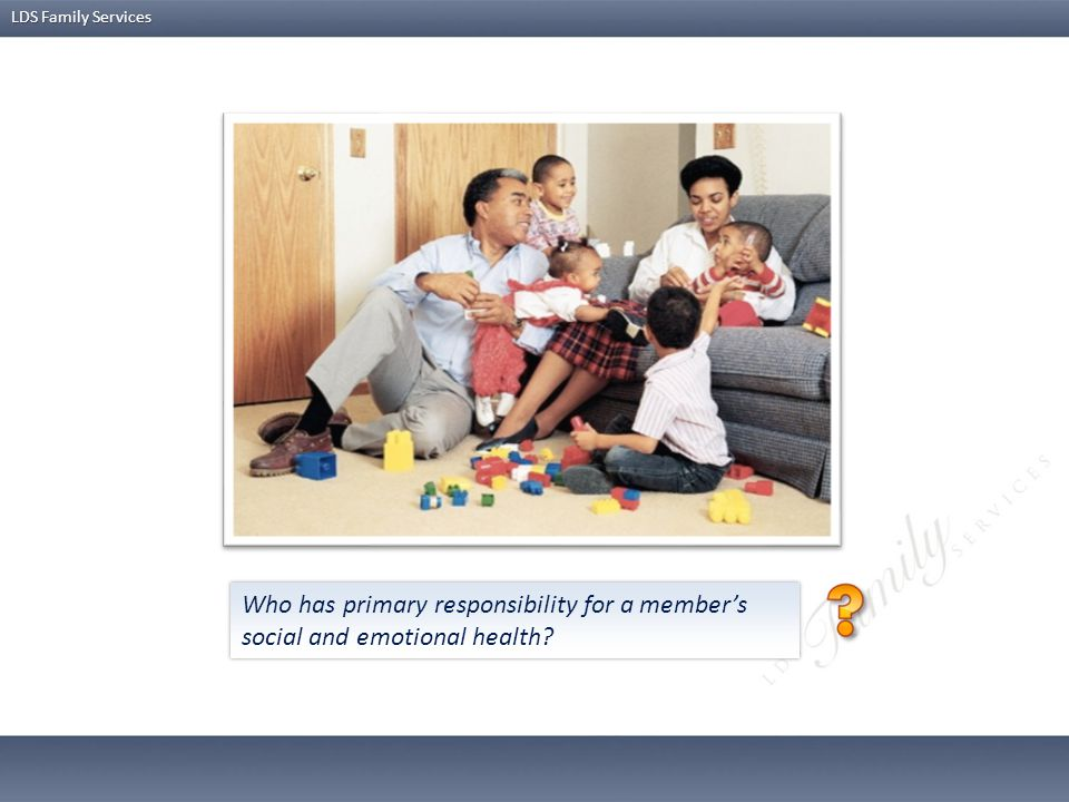 Who has primary responsibility for a member's social and emotional health