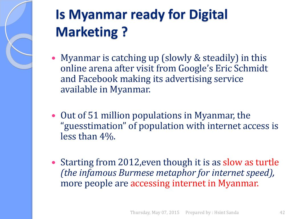 A Part of Myanmar Market, Economy & Trends - ppt download
