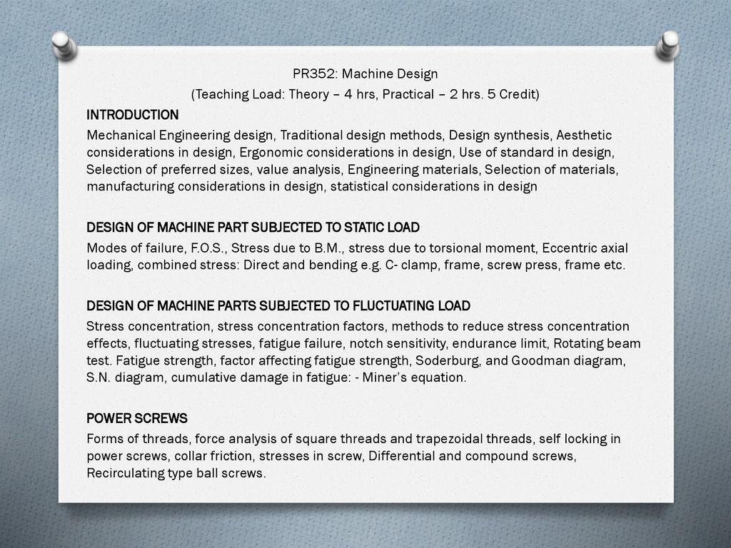 Machine Design  - ppt download
