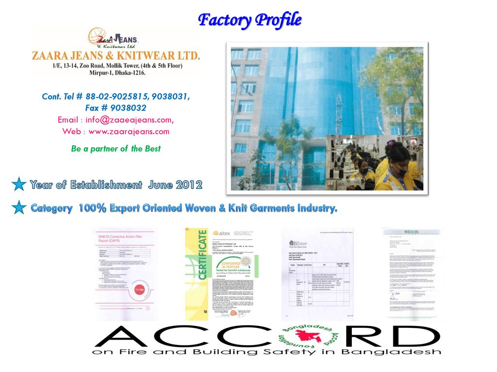 Factory Profile Year of Establishment June ppt download